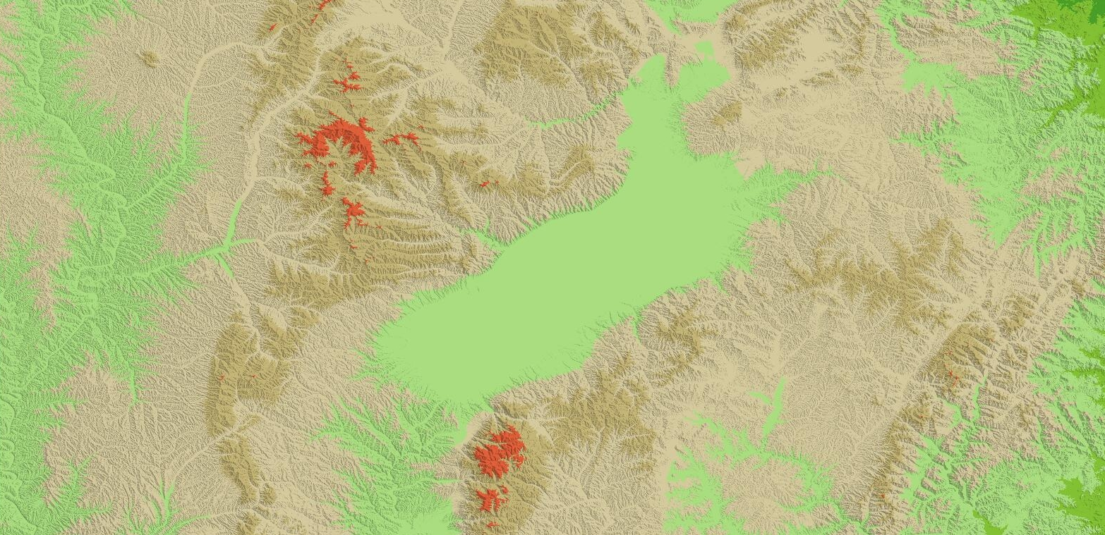 90米DEM渲染图-山西